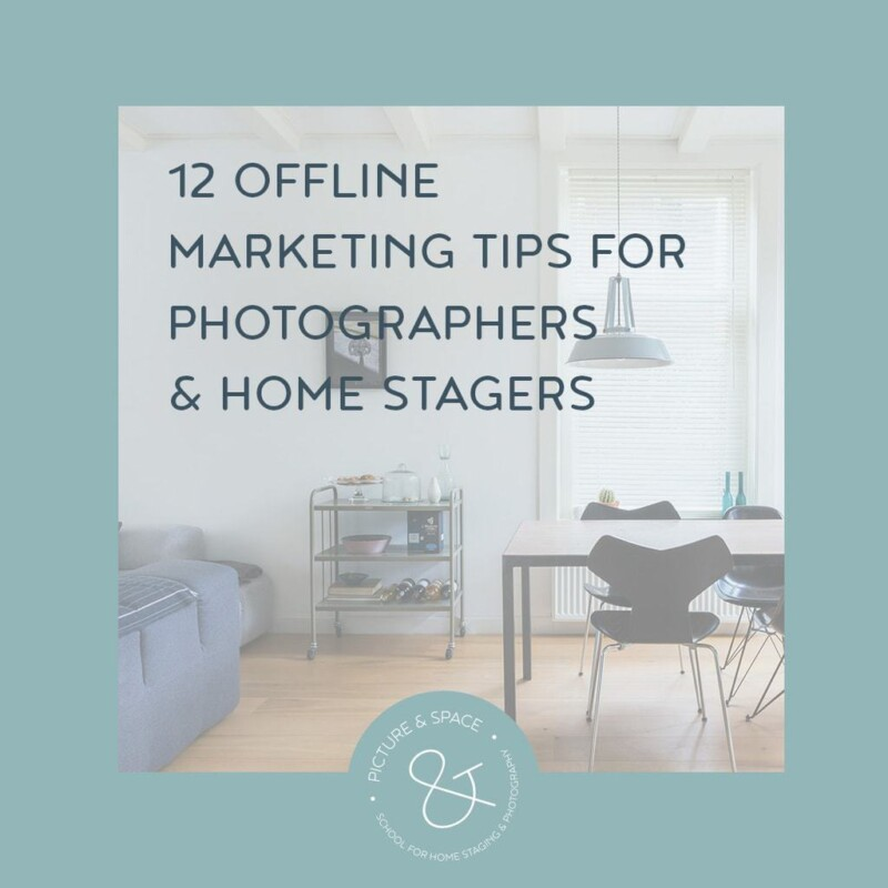 offline marketing tips for photographers and home stagers