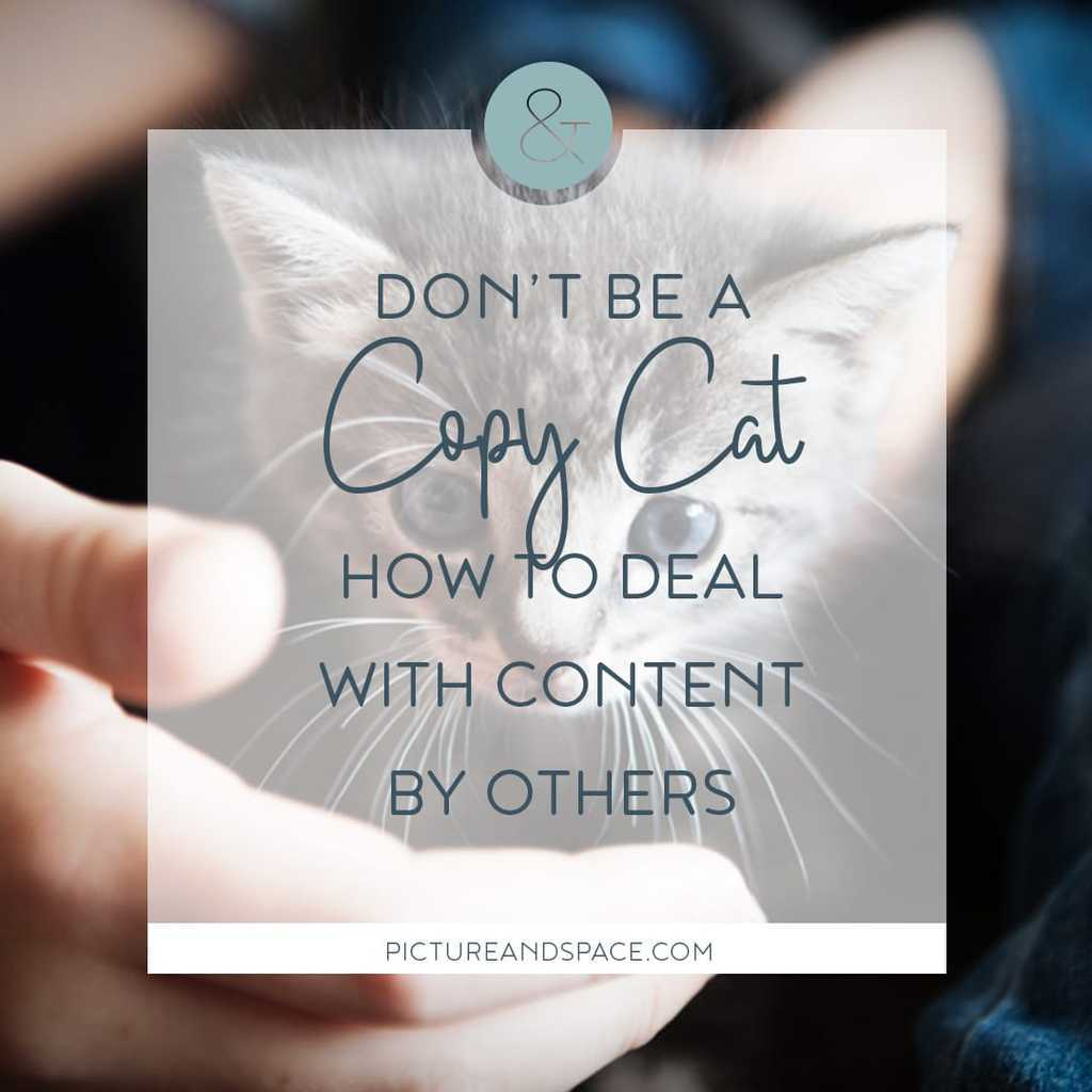 Don't be a copycat, about copyright