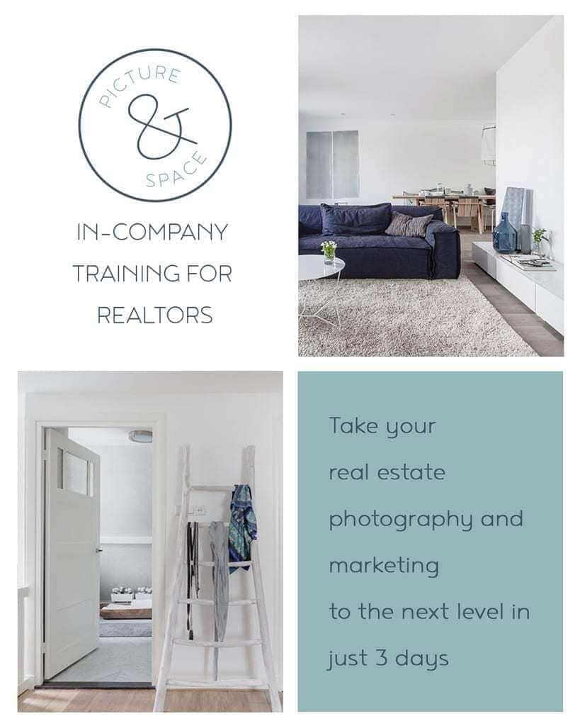 Take your real estate photography and marketing to the next level in just 3 days: In-company training for real estate agents