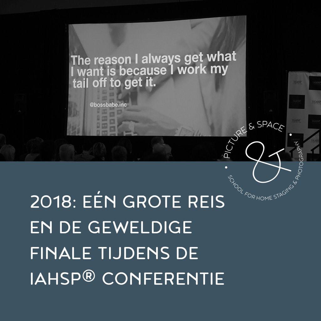 2018: Eén grote reis en de geweldige finale tijdens de IAHSP conferentie